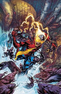Earth 2 - Age of Wonders. The Flash, Jay Garrick, gains his powers from a dying Mercury.