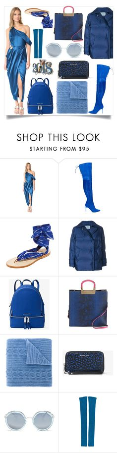 """For the love of fashion"" by gloriaruth-807 ❤ liked on Polyvore featuring Michelle Mason, Oscar de la Renta, Nupié, Prada, MICHAEL Michael Kors, Neiman Marcus, N.Peal and MARIOS"