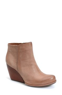 Kork-Ease® Burnished Leather Demi Wedge Boot
