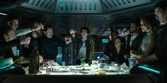 Party with the Covenant crew before they have their last supper. While we thought we were getting brand new footage from Ridley Scott's Alien: Covenant t Aliens Movie, Aliens And Ufos, Alien Covenant, The Covenant, Old Adage, Ridley Scott, New Clip, Last Supper
