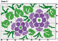 Spring flowers pattern