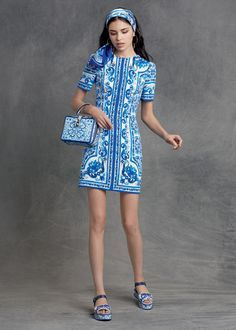 #DGmaiolica evokes the Mediterranean blue and Sicilian traditions. #dgwomen