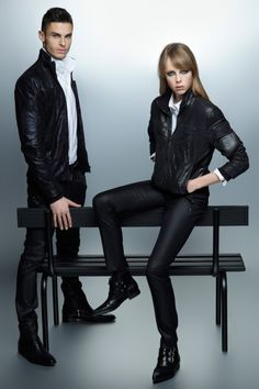 KARL LAGERFELD F/W 2012 CAMPAIGN   Edie Campbell & Baptiste Giabiconi by Karl Lagerfeld