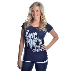 Youth Dallas Cowboys Navy Blue Logan Moisture-Wicking T-Shirt