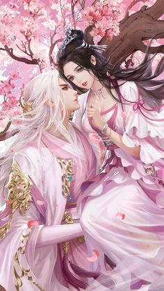 Romantic Anime Couples, Fantasy Couples, Cute Anime Couples, Cute Couple Art, Anime Love Couple, Anime Couples Drawings, Anime Couples Manga, Chinese Drawings, Chinese Art