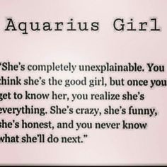#Being Aquarius <3 More