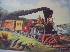 Train print, Vintage Currier and Ives from 1942. $8.00, via Etsy.