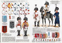 1763-1807: Prussian cuirassier regiments