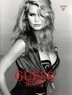 Guess Models, 90s Models, Fashion Magazine Cover, Fashion Cover, Claudia Schiffer, Modelos Guess, Guess Ads, Original Supermodels, Guess Girl