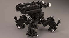 Robotic lifter 3D model - side back view