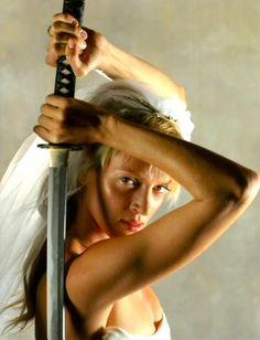 The Bride: The ultimate archetype of every rape-revenge horror film, mixed with the fighting spirit of martial arts movies & the laconic amorality of spaghetti westerns. The ultimate in female revenge. (Kill Bill Vol. 1, 2003, Quentin Tarantino. Portrayed by Uma Thurman).