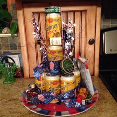 Beer Cake 4th of July- 21st bday!