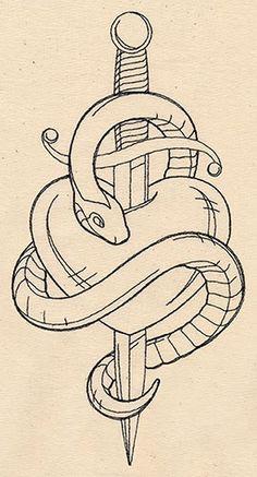 587138_Thread Tattoos - Snake and Dagger design (UT6704) from UrbanThreads.com