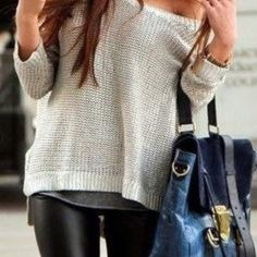 Big fan of a slouchy sweater with some tight pants