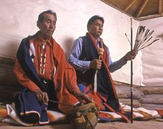 """Being a Navajo is in everything you touch. You breathe it, you taste it, you live it. It is the same with the Native American Church. You are always surrounded by it"". Paul Guy, Sr. with Paul Guy, Jr."