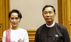 Aung San Suu Kyi and Shwe Mann