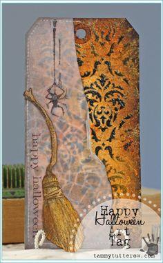 Tammy Tutterow | Happy Halloween Art Tag