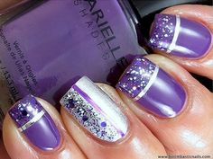 16 Cool Images of Pretty Purple Nail Designs. Purple Nail Designs Pretty Purple Nails Purple Nail Designs Purple and Silver Nail Art Design Purple and Black Nail Designs Fancy Nails, Love Nails, Pretty Nails, My Nails, Dream Nails, Purple Nail Art, Purple Nail Designs, Nail Art Designs, Purple Glitter