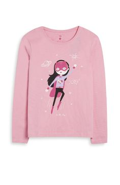 Primark - Pink Super Girl Top