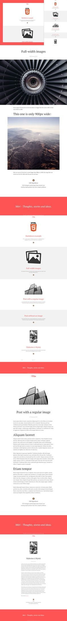 Móri - Clean and Responsive. Ghost Themes. $14.00
