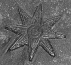 Una versión de la antigua Mesopotamia símbolo de la estrella de ocho puntas de la diosa Ishtar / Inanna