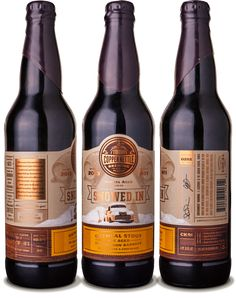 Label / beer / Copper Kettle Snowed In Oatmeal Stout - designed by Emrich Office