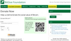 BitGive Foundation is First IRS Tax Exempt Bitcoin Charity.  #BitgiveFoundation #IRS #Bitcoin #Charity