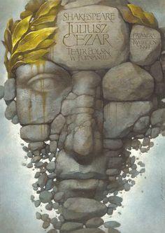 Julius Caesar  1997  Theater poster  by  Wieslaw Walkuski