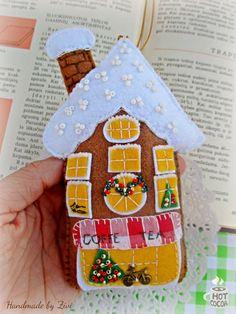 Whimsical Felt Gingerbread Ornament Felt by elrinconcitodezivi