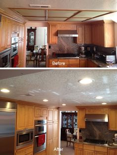 Idea To Replace Drop Ceiling In Kitchen Kitchen Lighting Ideas - Replace drop ceiling kitchen lighting