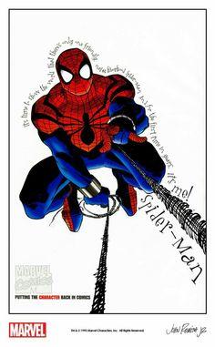 Marvel Comic Books, Comic Book Characters, Comic Books Art, Marvel Comics, Fictional Characters, John Romita Jr, Jr Art, Amazing Spiderman, Animation Series