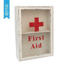 Vintage First Aid Cabinet   DotComGiftShop