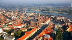 The neo-gothic Church of St. Peter and Paul (Crkva sv. Petra i Pavla) dates to the 1890s. The red brick structure's multi-tiered spires have become a recognizable landmark in Osijek. (20 most beautiful places in Croatia - CNN.com)