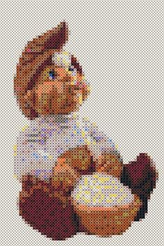 trip trap Hama Beads Patterns, Beading Patterns, Bead Crafts, Diy And Crafts, Hama Mini, Christmas Elf, Perler Beads, Projects To Try, Cross Stitch