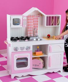 Modern Wooden Play Kitchen kidkraft pastel kitchen accessories 4-pack play set~~this is the 4