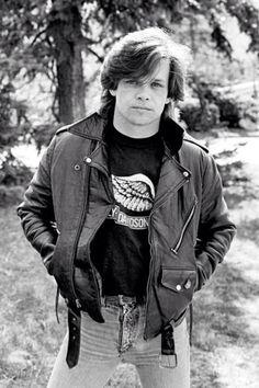 John Mellencamp in Jack Ashton's front yard Birmingham Michigan '82  ..Taken by Tom Weschler