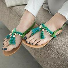Tasseled Thong Sandals