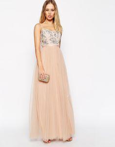 Image 4 of Needle & Thread Embellished Crystal Petal Maxi Dress