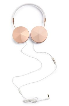 Rose gold headphones for tunes while you work!