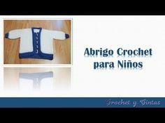 Abrigo tejido a crochet – ganchillo para niños - Parte 2 - YouTube