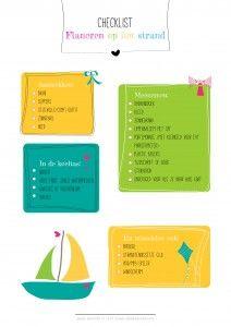 Flaneren aan het strand: gratis printable checklist