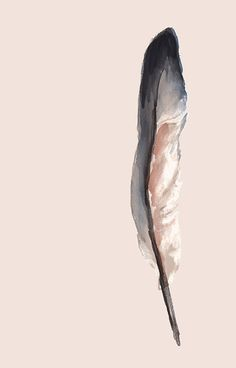 Watercolor feather sticker - Feb 2