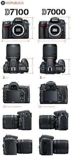 Nikon D7100 and Nikon D7000 size comparison