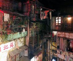This faux-seedy Japanese arcade is made up to look like a maze of alleys straight out of Blade Runner