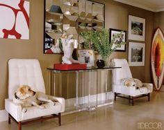 Retro modern foyer + Chuck Price sculpture + vintage modern chairs by xJavierx