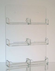 6-Pocket Clear Acrylic Wall-Mount Business Card Holder Business Card Displays, Business Card Maker, Cool Business Cards, Business Card Holders, Clear Acrylic, Clothes Hanger, Wall Mount, Pocket, Theta