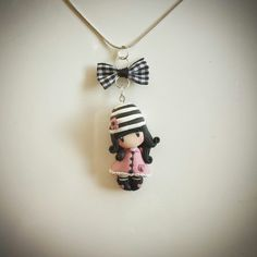 Gorjuss inspired polymer clay chibi doll pendant. Follow me on facebook: https://m.facebook.com/profile.php?id=1441357136106288&_rdr