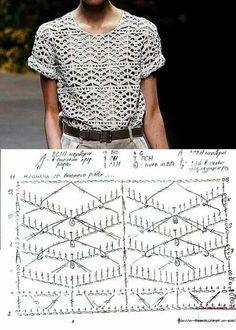 24 Trendy Ideas For Crochet Lace Top Pattern Free Charts T-shirt Au Crochet, Pull Crochet, Black Crochet Dress, Crochet Cardigan Pattern, Crochet Shirt, Crochet Jacket, Jacket Pattern, Top Pattern, Free Pattern