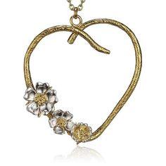 Alex Monroe Small Heart & Roses