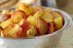Faux Potatoes - 3-4 bags radishes,  chicken or beef broth, olive oil,  sea or kosher salt, dried rosemary
